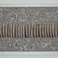 Plage en hiver - Technique mixte - 47 cm x 147 cm - 2013
